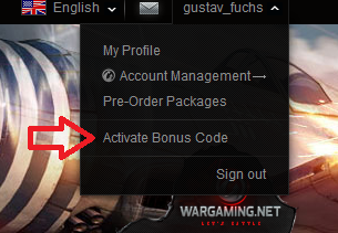 code. Enter the code and press ' Activate bonus code ' to confirm