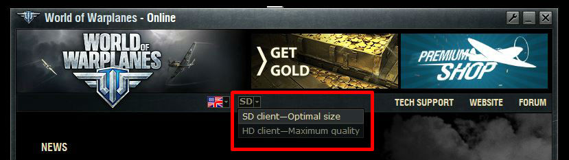 New SD/HD-Client Feature Coming | World of Warplanes